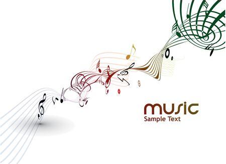 coro: Resumen de fondo de notas musicales para uso de dise�o. Vectores