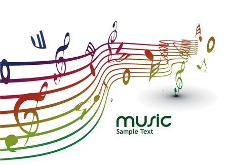Fondo abstracto de notas musicales para uso de diseño. Ilustración de vector