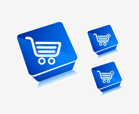 vector shopping icons for e-commerce, webshop and other webpages design used. Stock Vector - 9543001