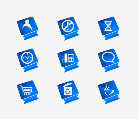 Vector web icons set Stock Vector - 9543005