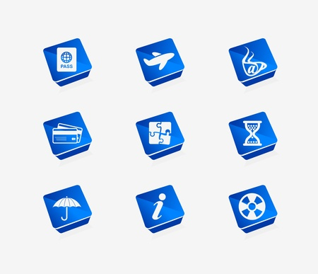 plane ticket: Vector travel icon set for web & applications