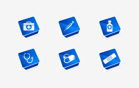 Vector medical icon set for web & applications Vector