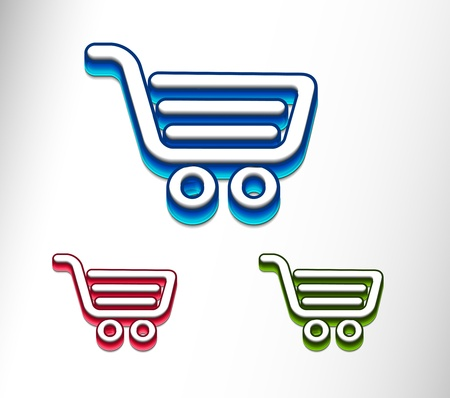 3d vector shopping web icons design element. Stock Vector - 9543054