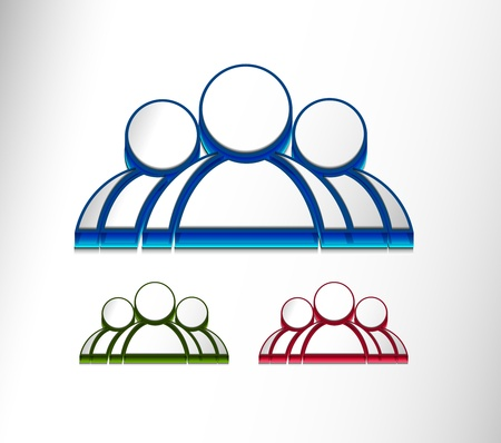 3d vector user web icon design element set.  Stock Vector - 9543086