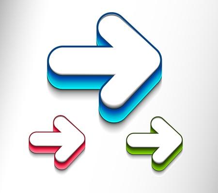 set di icone movimento freccia. Design icon vettoriale.