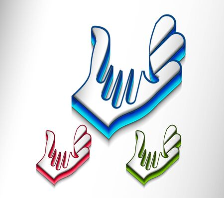 vector 3d icon of shaking hands design. Stock Vector - 9543051