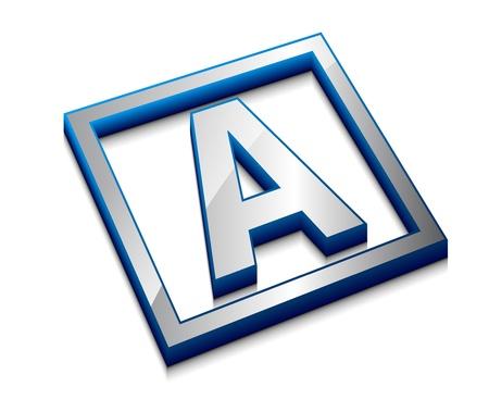 3d vector web design alphabet symbol - A Stock Vector - 9543103