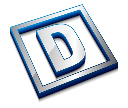 alphabetical letters: vector web dise�o alfabeto s�mbolo 3D - D Vectores