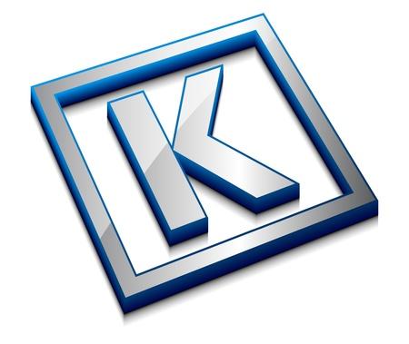 3d vector web design alphabet symbol - K Vector