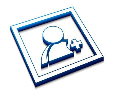 3d glossy  user web vector icon design. Vector