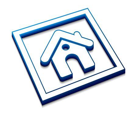 3d glossy home web vector icon design. Stock Vector - 9543131