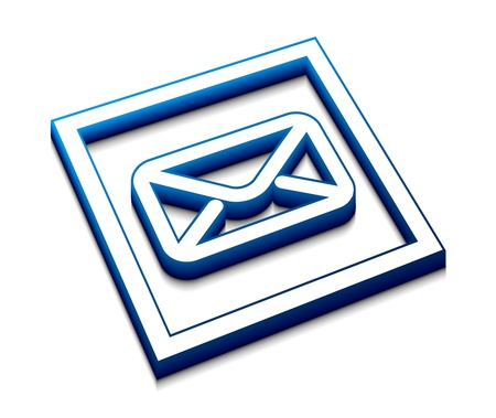 3d glossy email  icon, vector element. Stock Vector - 9543120