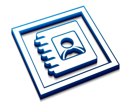 directory: 3d vector glossy user directory web icon design element.