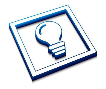 favourite: 3d vector glossy idea web icon design element. Illustration