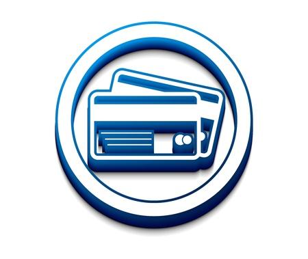 빚: 3d vector credit cards icon design element.
