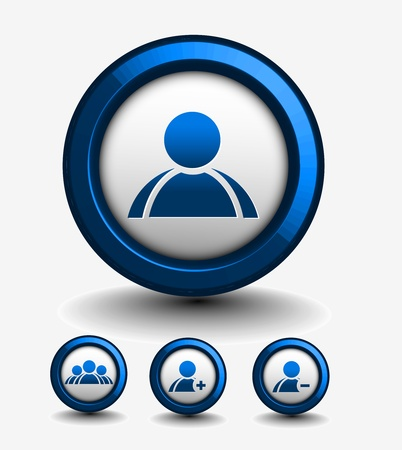 matrimonial: 3d vector user web icon design element.  Illustration