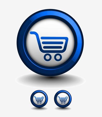 3d vector shopping web icons design element. Stock Vector - 9559379