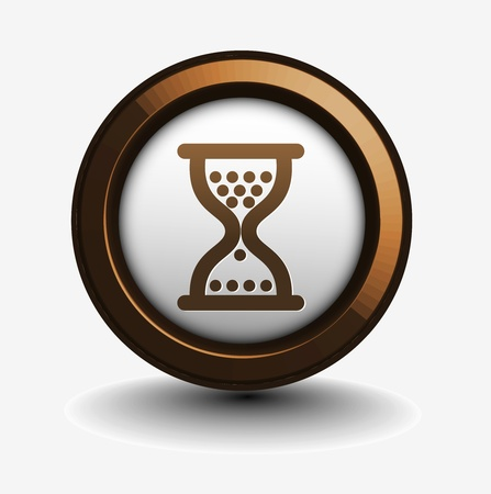 vector glossy hourglass web icon design element. Vector