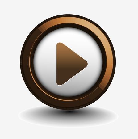 botones musica: m�sica jugar icono de elemento de dise�o web. Vectores