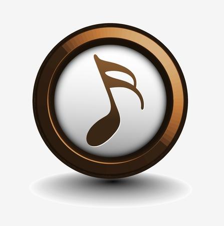 Musica design di note icona utilizzare, illustrazione vettoriale  Vettoriali