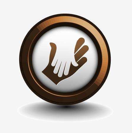 dandose la mano: icono de negocio de vector de agitando las manos dise�o.