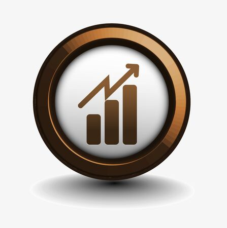 forecast: 3d vector glossy business graph web icon design element.