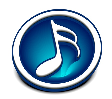 quavers: Music notes icon design use, vector illustration  Illustration