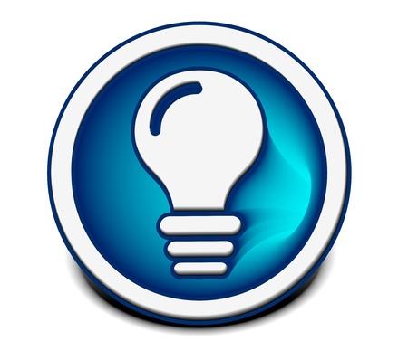 lightbulb: vector glossy idea web icon design element. Illustration