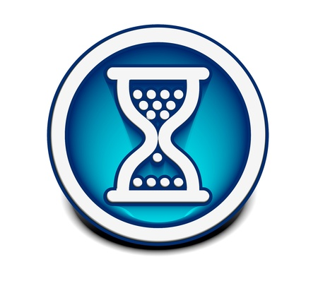 vector glossy hourglass web icon design element. Vector