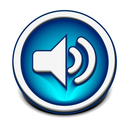 vector speaker icon web design element.