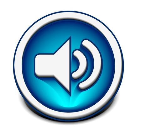 오디오: vector speaker icon web design element.  일러스트