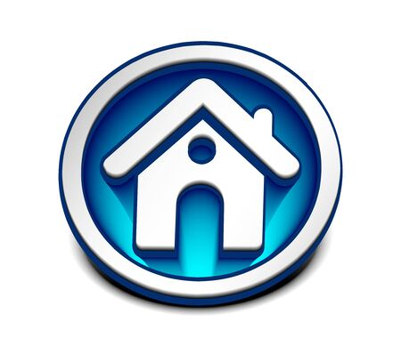 3d vector home icon design with isolated on white.  Vector
