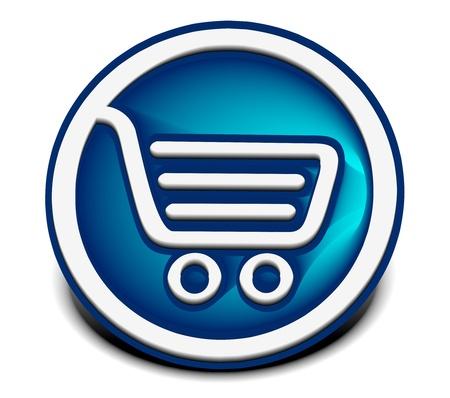 3d vector shopping web icons design element. Stock Vector - 9559387