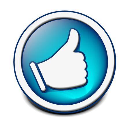 best hand: como icono aislado sobre fondo blanco. Vectores