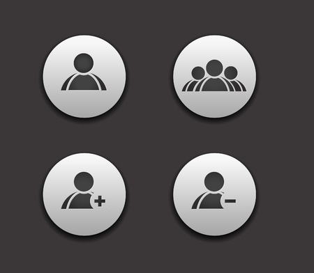 favorites: vector add delete  & user group web icon set design element.