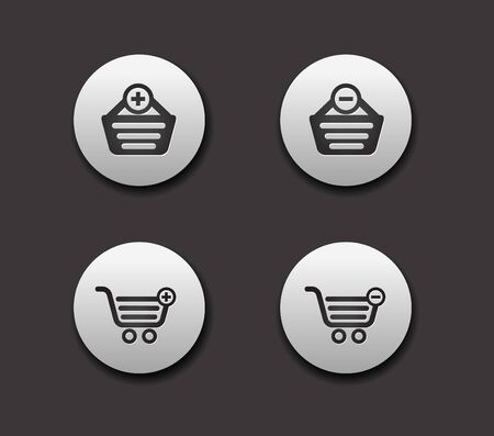 set of different Shopping web icons graphics for web design Vector