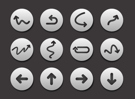 Set of Arrow Icon graphics for web design collections. Vector