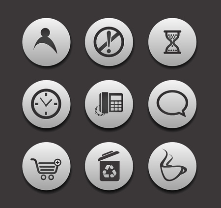 Set of different web Icons graphics for web design collections. Vector