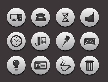 Set of Computer Icons graphics for web design collections. Vector