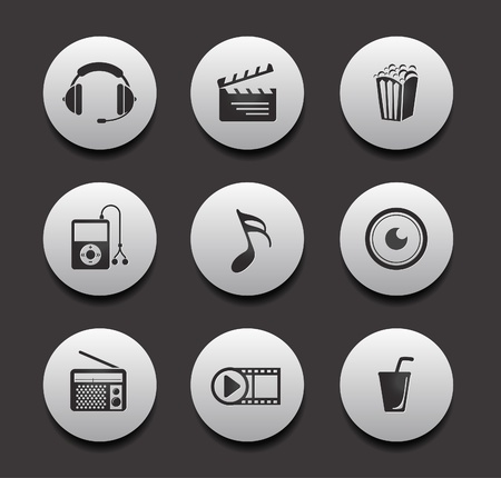old phone: entertainment & music icon set design, vector illustration