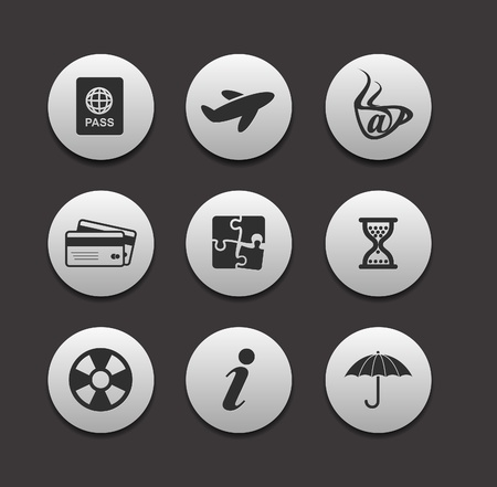 vector website and internet icons - travel series design. Vector