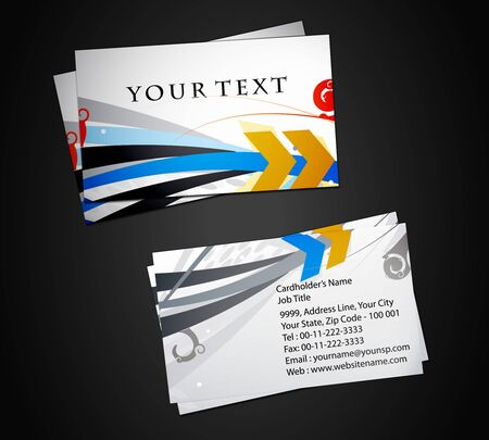 vector business card set, elements for design.  Stock Vector - 9581163