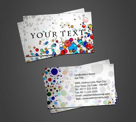 vector business card set, elements for design. Stock Vector - 9581165