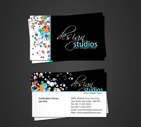 vector business card set, elements for design. Stock Vector - 9581185