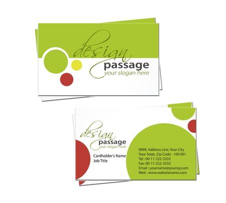 envelope decoration: vector business card set, elements for design.  Illustration