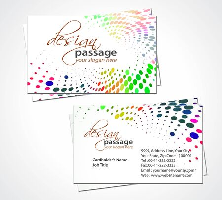 vector business card set, elements for design. Stock Vector - 9581145