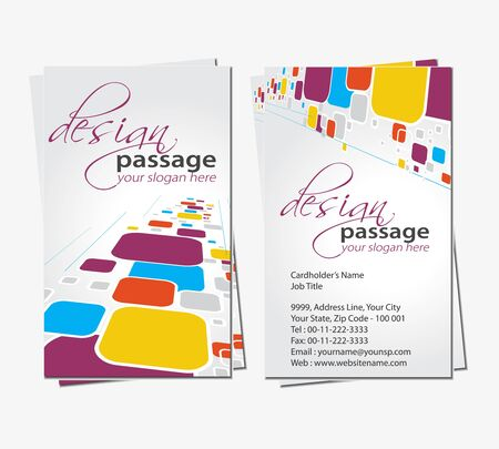 leaflet design: vector business card set, elements for design.  Illustration