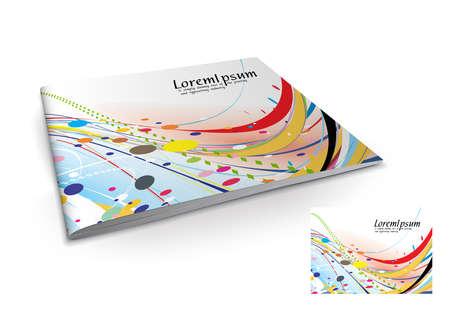 Presentation of brochure cover design template., vector illustartion.  Stock Vector - 9610852