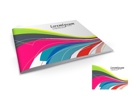 book cover design: Presentation of brochure cover design template., vector illustartion.