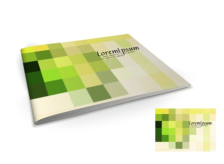 textbooks: Presentation of brochure cover design template., vector illustartion.